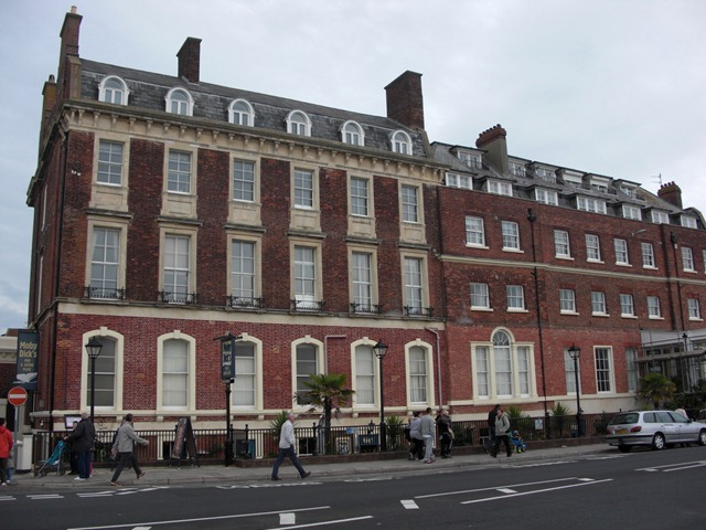 Fine Georgian buildings on the Esplande, Weymouth