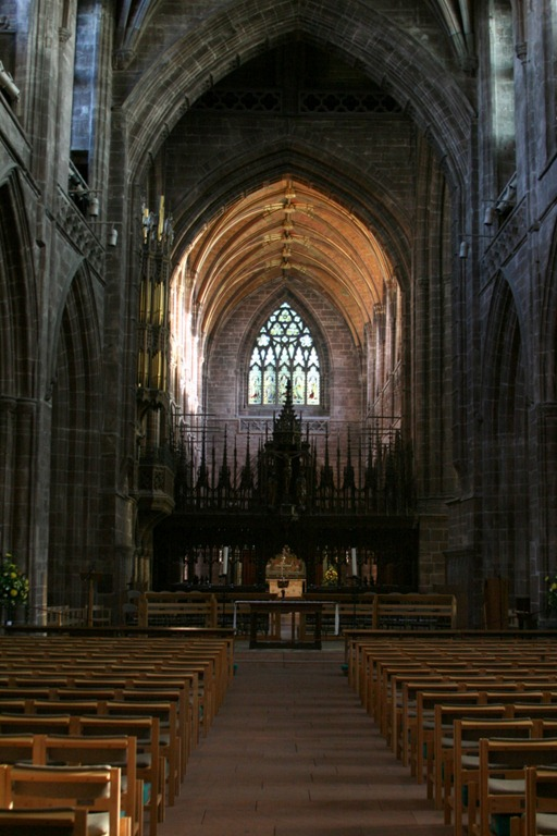 Looking East along the nave