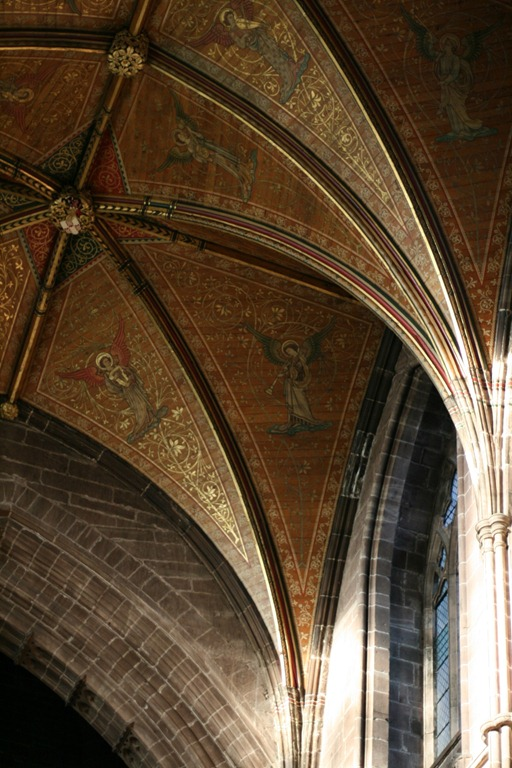 Detail of the ceiling in the East Nave